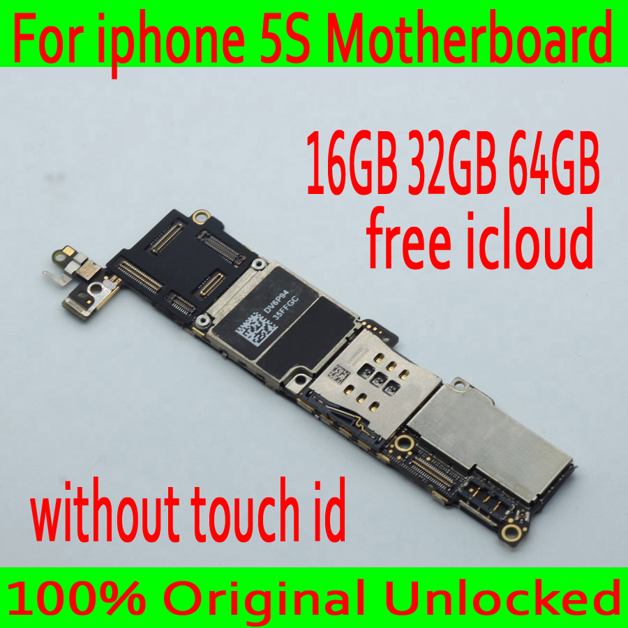 Original unlocked for iphone 5S Motherboard without Touch ID,for iphone 5S Mainboard, Free iCloud with IOS System,Good TestedOriginal unlocked for iphone 5S Motherboard without Touch ID,for iphone 5S Mainboard, Free iCloud with IOS System,Good Tested