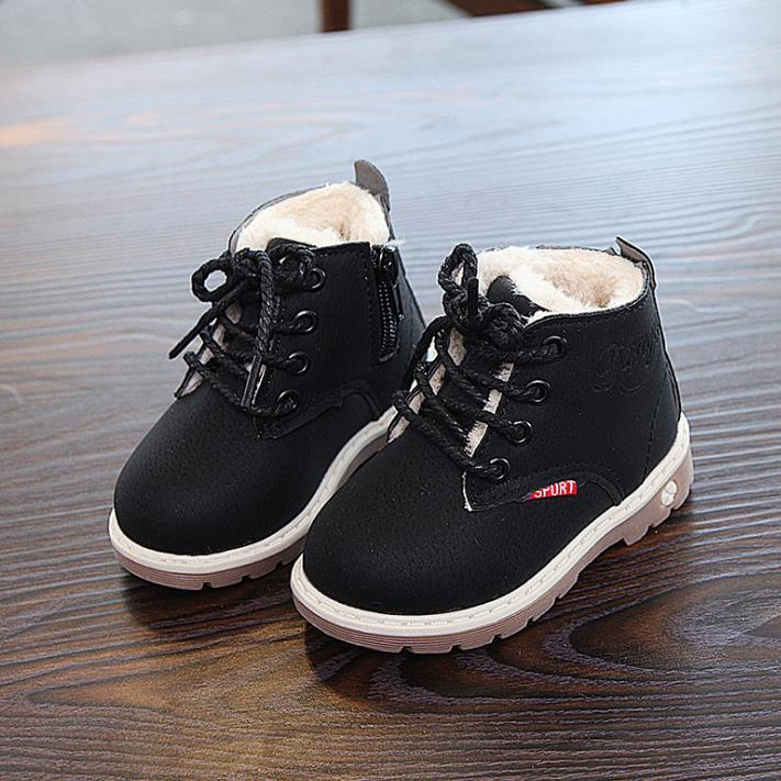 HaoChengJiaDe 2018 New Winter For Child Kid Girl Boy Snow Boots Comfort Thick Antislip Short Boots Fashion Cotton-padded Shoes 3
