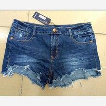 2018 Европейский. Американский летний ветер женский синий середины талии джинсовые шорты женщины нос