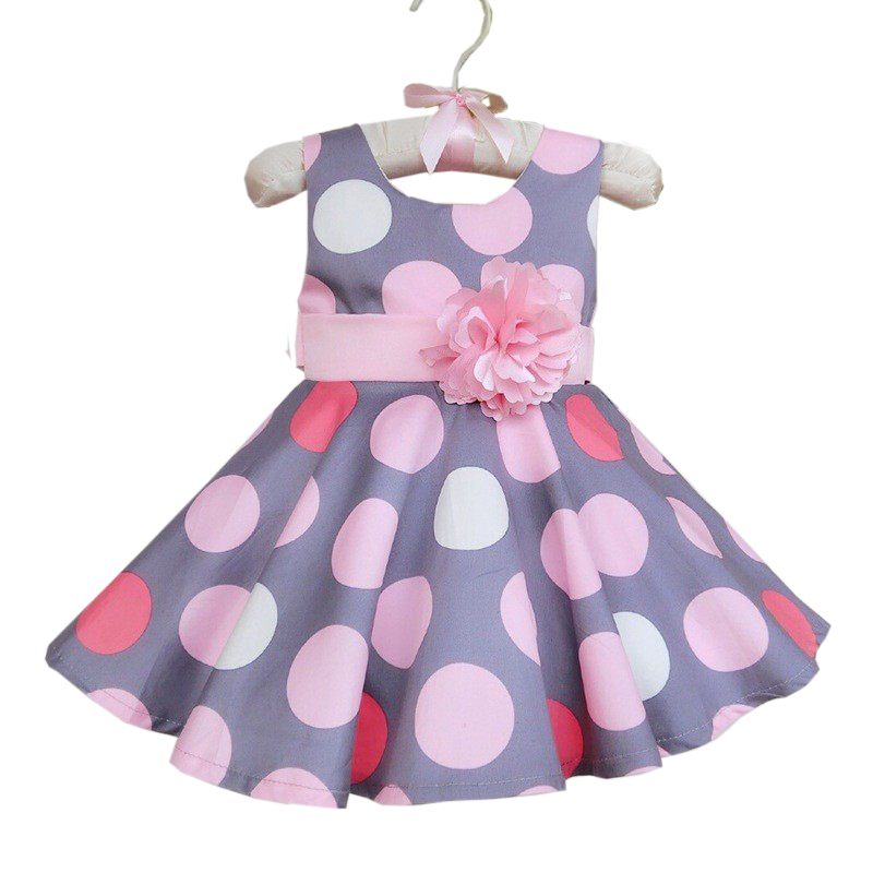Summer Style Girl Dress Kids Polka Dot Dress Kids Clothing Sundress Girl Princess Dresses with Flower Girl Sleeveless Cake Dress ems dhl free shipping toddler little girl s 2017 princess ruffles layers sleeveless lace dress summer style suspender