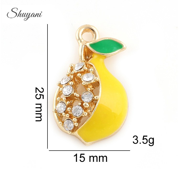 25*15mm Silver Gold Alloy Crystal Pears Charms Pendant Fits Bracelets Necklace Fashion Jewelry