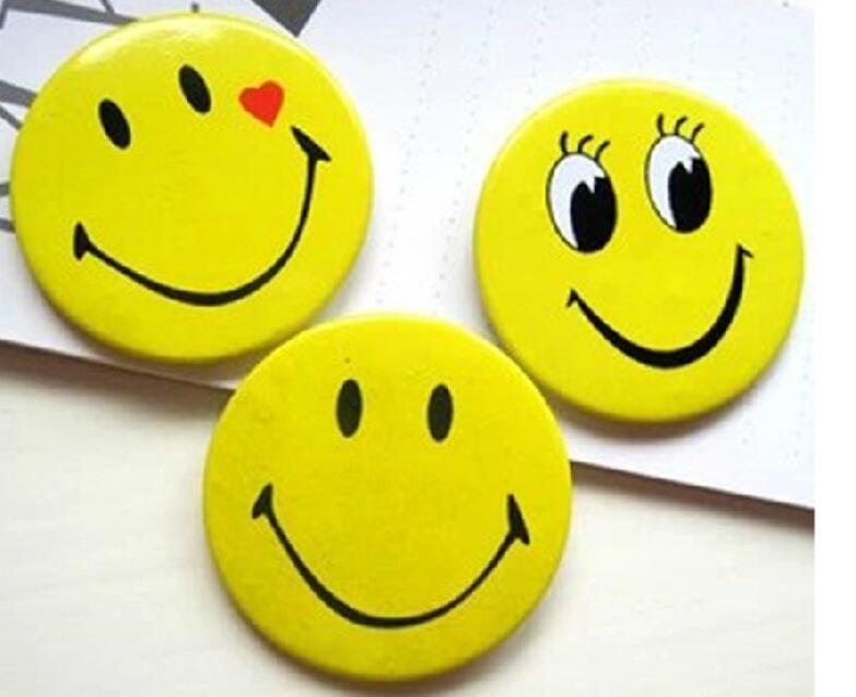 Smiley Face Badge Tinplate Crafts Custom Tinplate Smiley