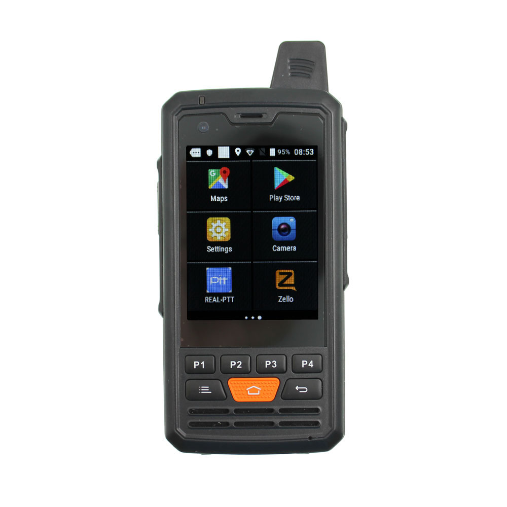 4G Network Radio Zello Walkie Talkie Android 6.0  PTT Moblie Phone With Touch Screen