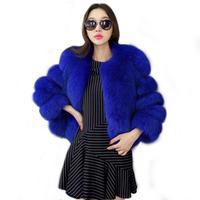 2018新しいデザイン秋の冬コート暖かいフェイクファーミンクコート上