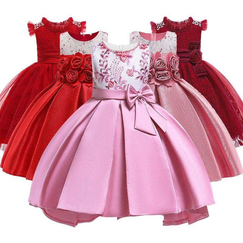 13eec76fb Vestido de fiesta de princesa para niñas, vestidos de flores elegantes de  cumpleaños para niños, vestido de arco para niños, de 3 a 10 años, tutú  para niños ...