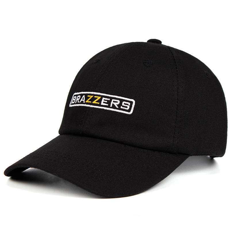 100% Cotton BRAZZERS Dad Hat Embroidery   Baseball     Caps   For Men Women Snapback   Cap   Cotton Hip Hop Bone