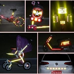 Image 5 - 25mm de largura Reflexivo Bicicleta Adesivos Fita Adesiva Para Bicicleta Segurança Bicicleta Reflexiva Adesivos Decalques Bisiklet
