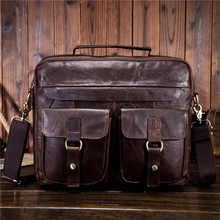 Fashion casual head layer mad horse skin men bag mens single shoulder slant with real leather retro tide 1130
