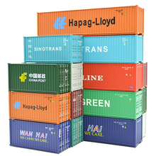 лучшая цена 1:87 HO Train Model 40 Feet Container Oceangoing Ship Freighter Boat Accessories Scale Model Parts Toys for Collection