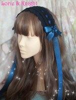 Japoński Harajuku Handmade Anime Pokojówka Cosplay Księżniczka Dziewczyna Słodka Lolita Stroik Pasmo Włosów