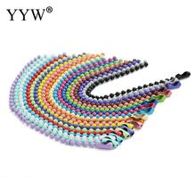 YYW 5/30/50pcs 12cm Length Colorful Ball Bead Chains Fits Keyring/Key Chain/Dolls/Label Hand Tag Connector DIY Jewelry Making