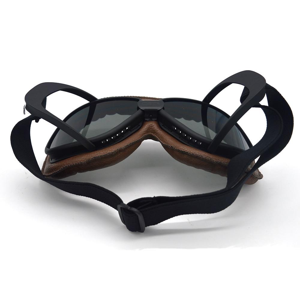 MOOREAXE Vintage Motorcycle Goggle Dirt Bikes Racing Goggle Glasses Eyewear Pilot Retro Googles Brown Frame Helmet Sunglasses