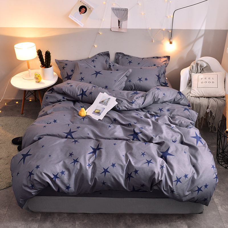 US $31.61 34% OFF|BEST.WENSD Egyptian cotton bed set bedding luxury gray  bedroom comforter set usa china air express duvet cover five star  pattern-in ...
