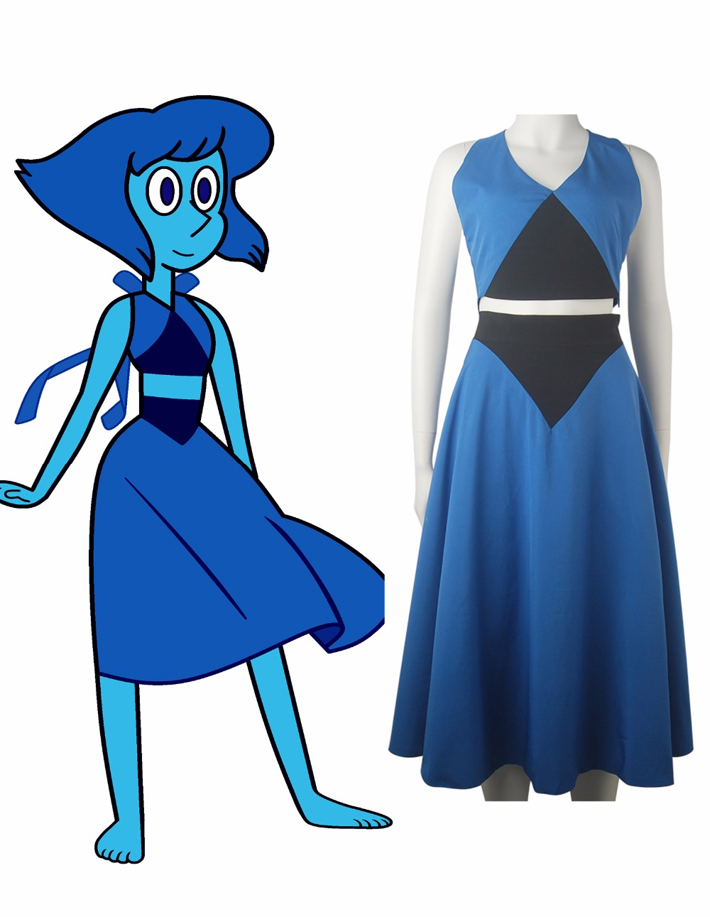 Steven Universo Lapislázuli vestido azul diario desgaste de - Disfraces