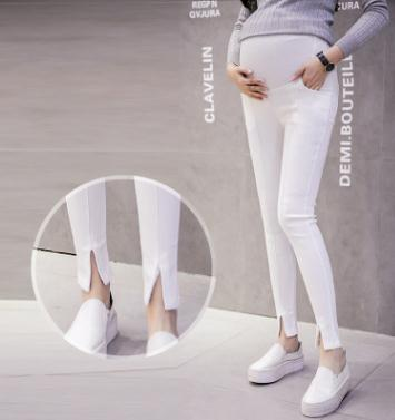 9 10 Length Elastic Maternity Pencil Pants 2018 Spring Summer New Stylish Pregnancy Leggings Trousers for Pregnant Women SH S264 in Pants Capris from Mother Kids