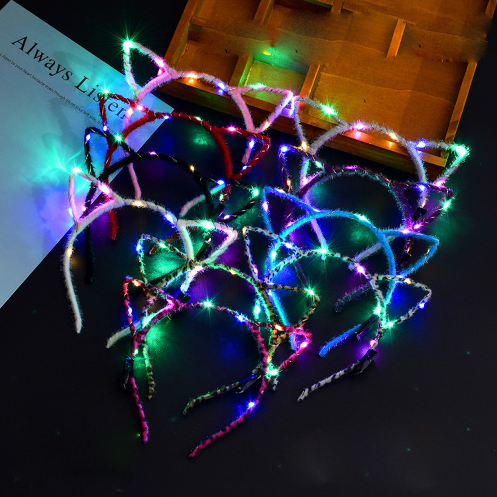 Back To Search Resultshome Hairband For Girls El Led Club Party Concert Light Up Bright Flash Glowing Hairband Beach Fashion Accessories Summer Headwear #8