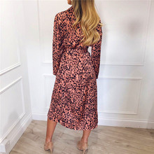 Vintage Long Sleeve Beach Chiffon Dress