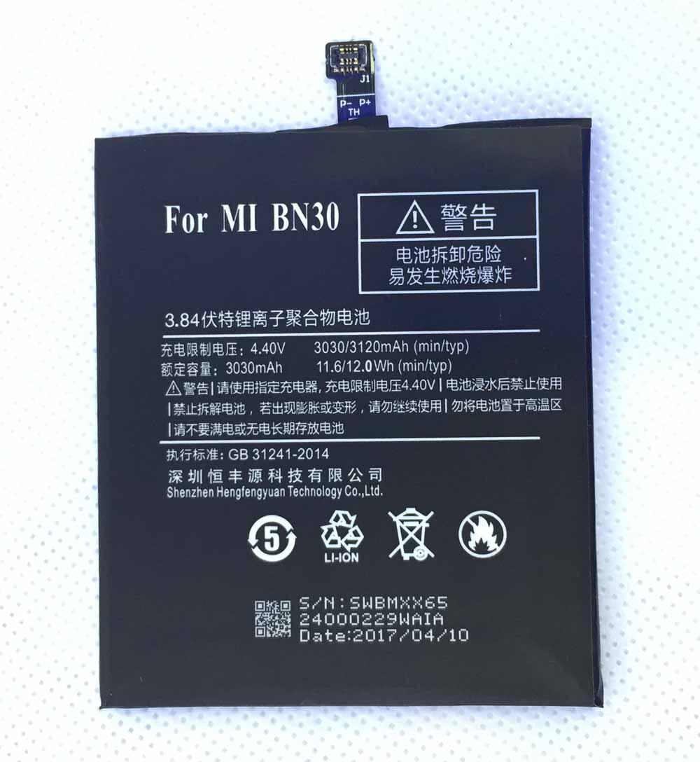 HFY BN30 Pour Xiaomi Redmi 4A batterie 3030 mAh pour Xiaomi hongmi 4A téléphone portable batterie rouge mi 4a