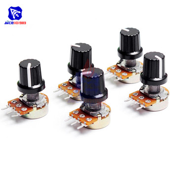 5 PCS - 3 Pin Linear Taper Rotary Potentiometer for Arduino