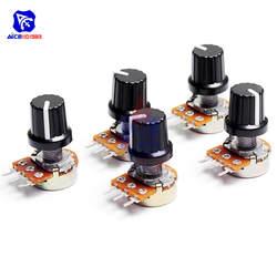 5 шт./лот потенциометр резистор 1 к 10 к 20 к 50 к 100 к 500 к ом 3 Pin Линейный переход поворотный потенциометр для Arduino с кепки