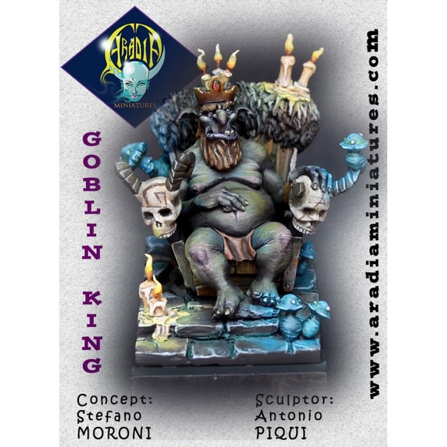 US $41 0 |[Loong Way Miniatures] Aradia Miniatures Goblin King 54mm Resin  Miniature-in Model Accessories from Toys & Hobbies on Aliexpress com |