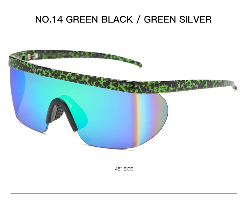 2019 Summer New Men Goggle Oversize Party Sunglasses Windproof eyewear flat top Square Sun glasses UV400 KDEAM KD3597