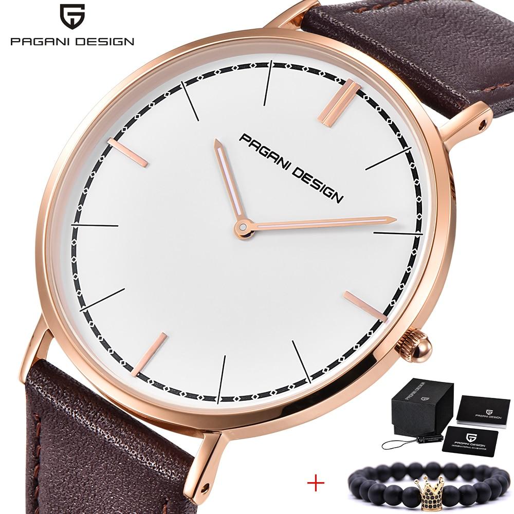 Brand Luxurious PAGANI DESIGN 2018 New Couple Watch Men Quartz Wristwatches Mens Simple Leather Waterproof Women Watches Clock