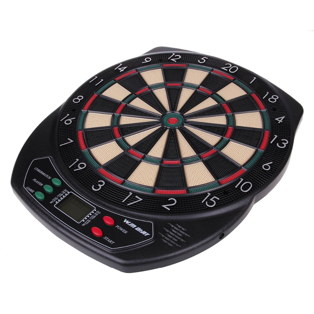18 Electronic Soft Tip Dartboard 18 inches Dart Game Set with Darts and Board