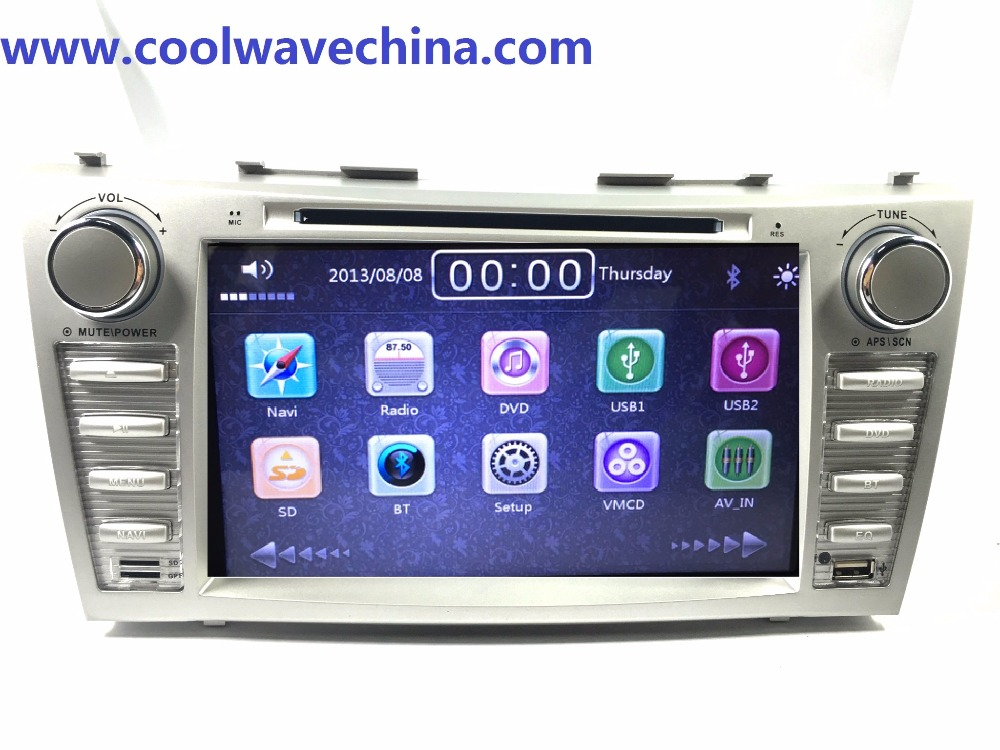 car radio gps 2din navigation dvd player for toyota camry 2007 2008 2009 2011with bluetooth. Black Bedroom Furniture Sets. Home Design Ideas