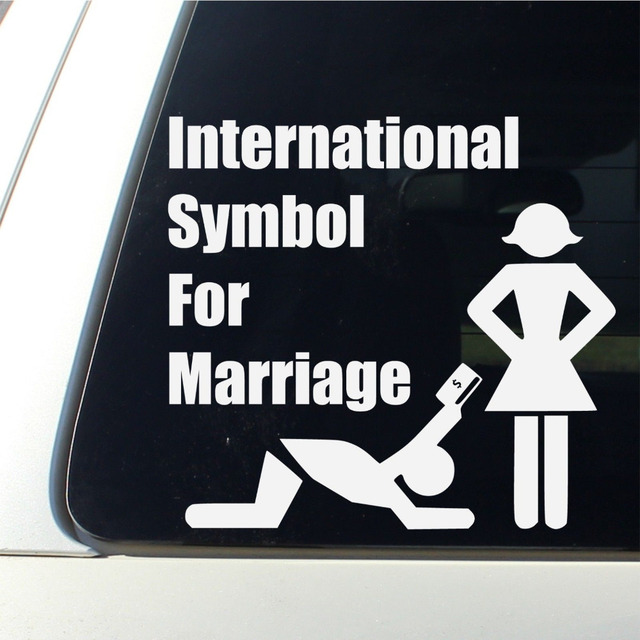 20pcslot International Symbol For Marriage Car Decal Funny Bumper