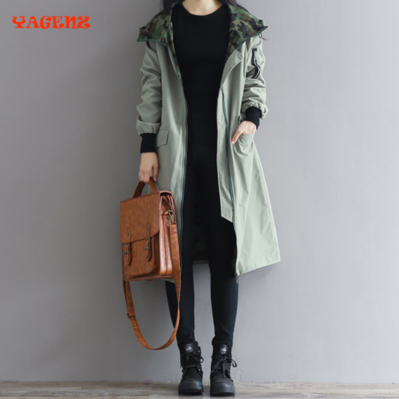 Hot!Europe style new 2018 women fashion loose medium long cotton-padded coat Autumn winter fat mm   Trench   coat Plus size