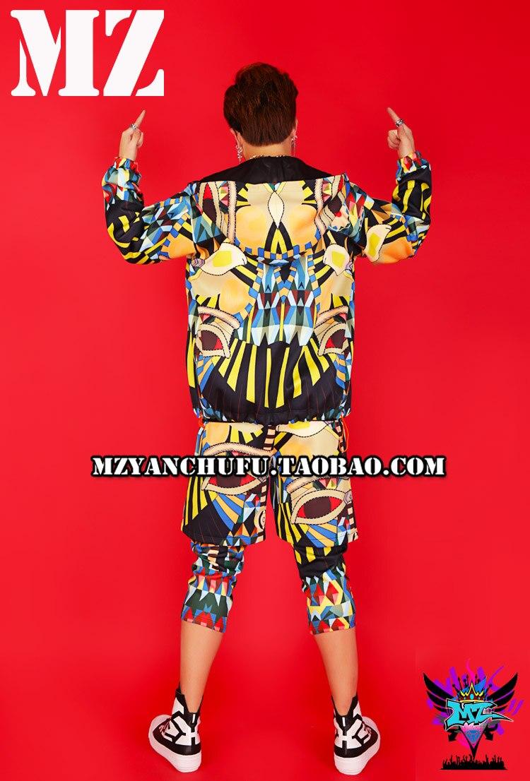 New 3D dicetak pria batu hip-hop DS street dance hoodied klub malam - Pakaian Pria - Foto 1