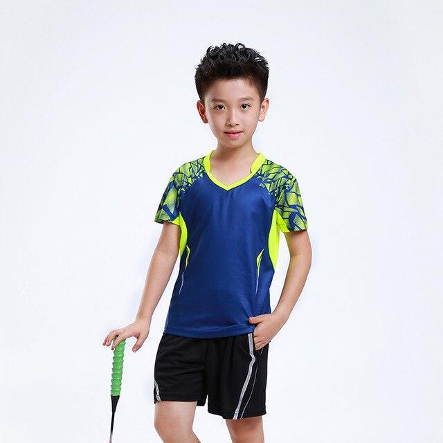 best cheap ac4b9 1648b US $19.08 19% di SCONTO|New Quick dry Bambini Badminton vestiti Del  Ragazzo, ragazza sport Tennis tuta, bambini set di Badminton, vestito da  tennis ...