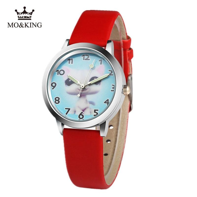 Children Watch Extraterrestrial Leather Strap Quartz Dial Watches Kids Wrist Watches For Boys Girls Xmas Gifts Cartoon Watch