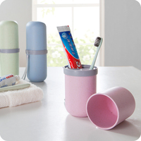 Vanzlife Travel Lovers Cup Cup Toothbrush Holder Wheat Straw Storage Box Yagang Toothbrush Capsule Wash Cup