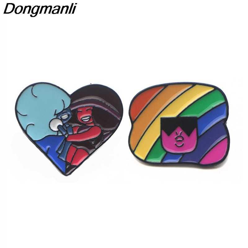 P3681 Dongmanli Sveglio Dello Smalto del Metallo Spilli e Spille per Risvolto Spille Borse Zaino Distintivo Cool Regali