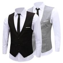 Мужские классические деловые Slim Fit Цепи платье жилет костюм смокинг, жилет
