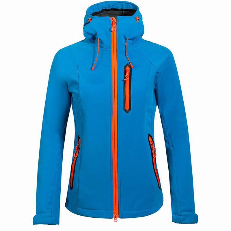 Damas de otoño de camping senderismo chaqueta a prueba de viento fleece lining s