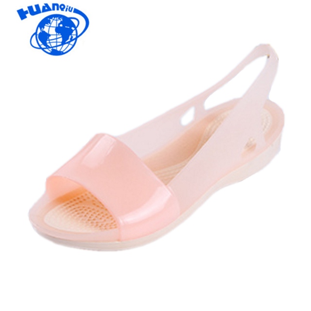 Women Sandals Colorful Women Shoes Peep Toe Stappy Beach Rainbow Croc Jelly Shoes Woman Summer shoes ST236