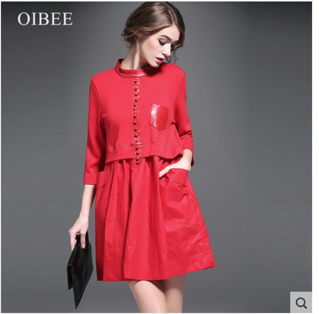 Spring 2018 women s wear new loose look thin doll version of the long dress trend