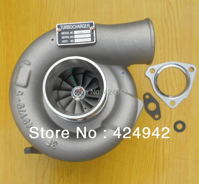 TD06-17A/TD06-17A-12 49179-00110 ME037701 turbocharger turbo for Mitsubishi 6D14-2CT 6D14T oil cooled One year Warranty