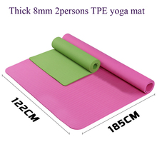 185*122*0.8cm Couple Thick exercise TPE Yoga Mat Pad Non-Slip Fitness folding gymnastics mat for body building