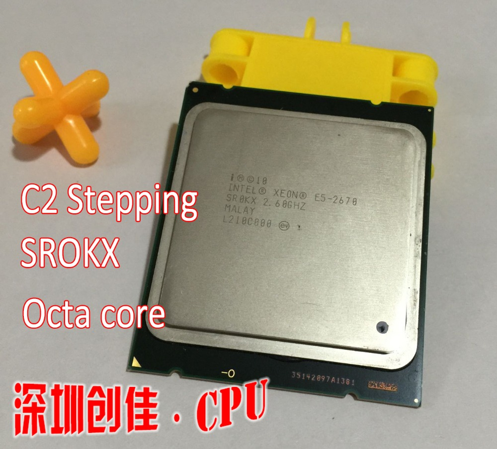 Livraison Gratuite Intel Xeon CPU E5-2670 C2 CPU 2.6 GHz LGA 2011 20 MB L3 Cache 8 CORE 115 W Processeur scrattered pièces e5 2670
