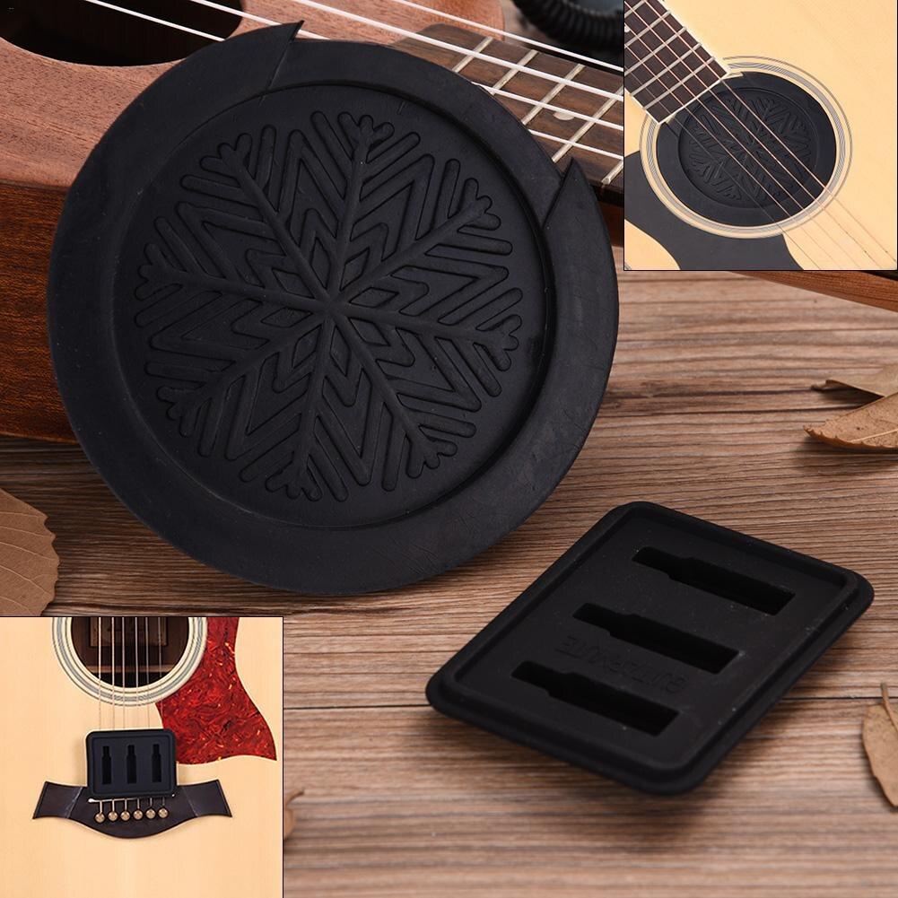 Gummi Akustische Klassische Gitarre Feedback Buster Schallloch Abdeckung Pufferblock Stop Stecker mit Uebungsdämpfer Schalldämpfer Pad