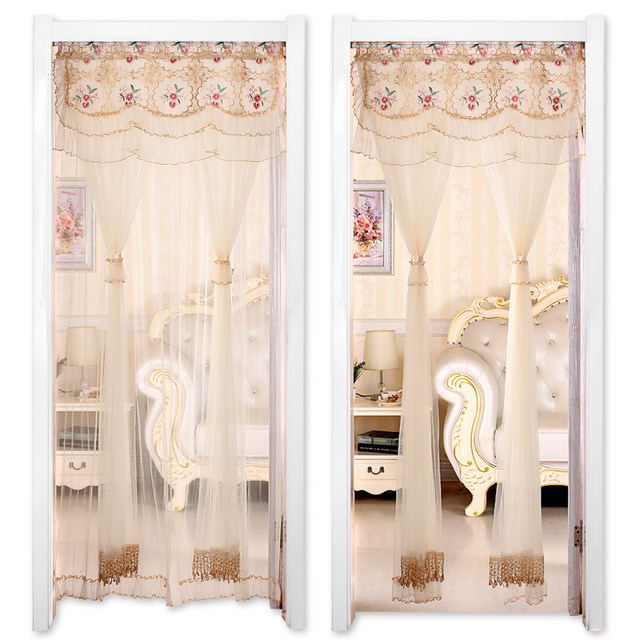 Lace Curtains Modern Kitchen Curtains Rustic Home Decor White Sheer Curtains  Embroider Short Curtain For Living Room Door Drapes
