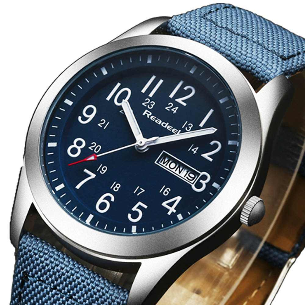 0c95d6c961b8 Readeel marca moda hombres deporte relojes de cuarzo hora fecha reloj  hombre Militar ejército impermeable reloj