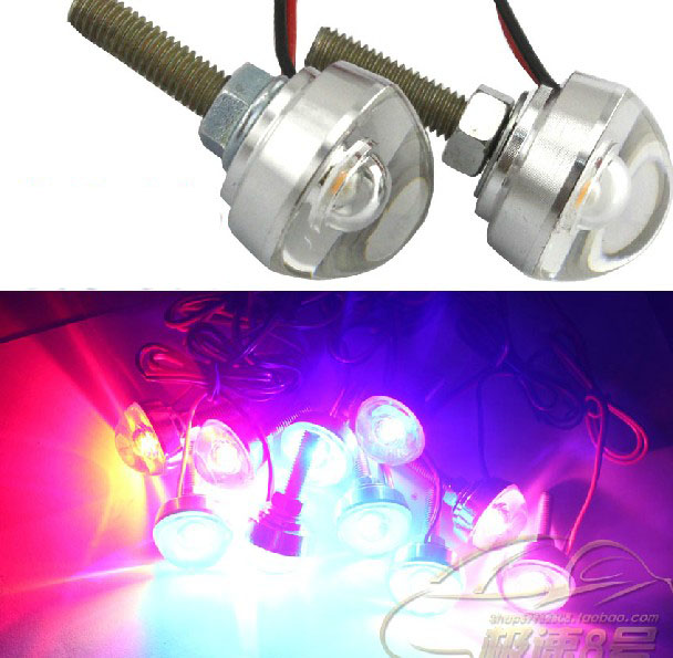 Pair Mini Led Motorcycle License Driving Daylight 12v