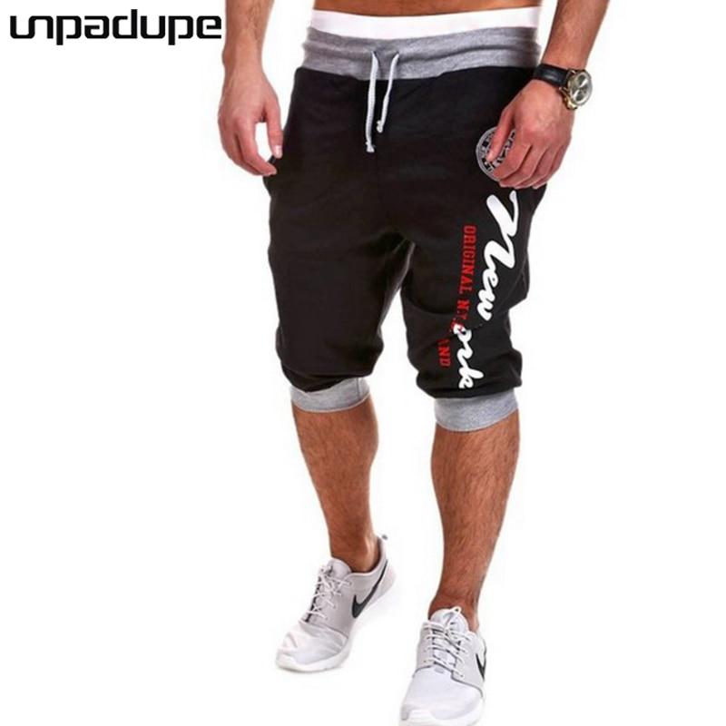 2018 Mens Shorts Casual Bermuda Brand Compression Simple Printing Male Cargo Shorts Men Linen Cotton Fashion Men Short Summer