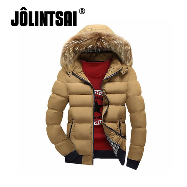 2017 Winter Jacket Parka Men Cotton-Padded Winter Parka Down Coat Men Outwear Winter Jacket Patchwork Men Fur Hooded Coats