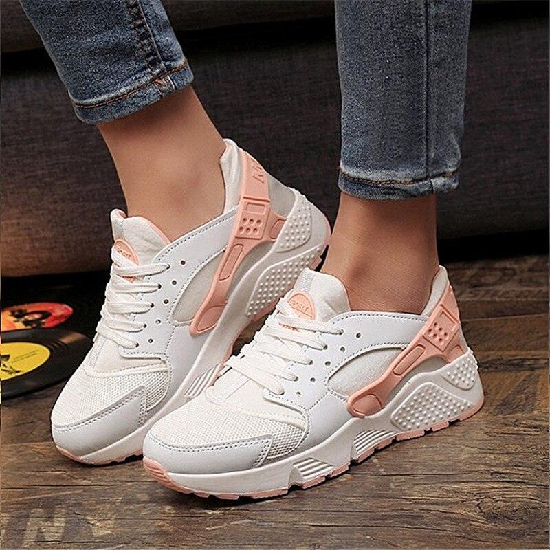 2018 mode Trainer Turnschuhe Frauen Casual Schuhe Air Mesh Grils Keile Leinwand Schuhe Frau Tenis Feminino Zapatos Mujer Kein Logo